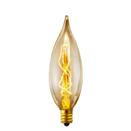 Globe Electric 25W Vintage Edison B10 Flame Tip Incandescent Filament Light Bulbs (4-Pack), Candelabra E12 Base 01327 2