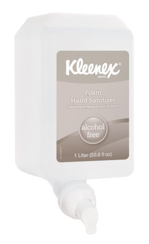 Kimberly-Clark Kleenex 12977 Alcohol Free Luxury Foam E-3 Instant Hand Sanitizer, 1000 Ml Dispenser Refill, Clear (Case Of 6) front-215920