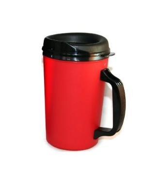 20 Oz Thermoserv Foam Insulated Coffee Mug- Red