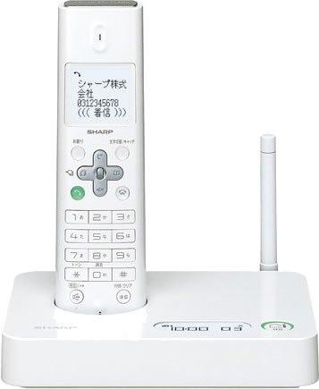 SHARP デジタルコードレス電話機 子機1台タイプ ホワイト JD-S10CL-W