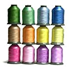 12 Large Spools SPRING Embroidery Machine Thread