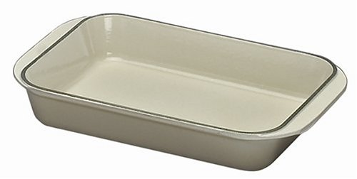Le Creuset Cast Iron Rectangular Dish, Almond, 30 cm
