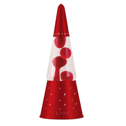 Lava Lite 6020 Heritage Collection 16.3-Inch Wizard Lava Lamp With Red Base, Red Wax/Clear Liquid front-224078