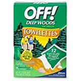 Off! Deep Woods Insect Repellant Towelettes-12 ct.