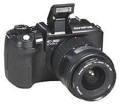 Olympus EVOLT E-300 (with 14-45mm and 40-150mm Lenses)