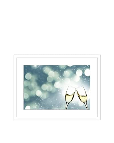 """Cheers To A New Year"" Framed Artwork On Paper"