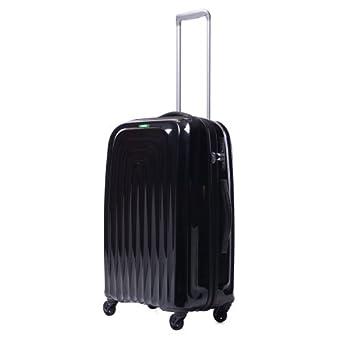 Lojel Wave Polycarbonate Medium Upright Spinner Luggage, Black, One Size