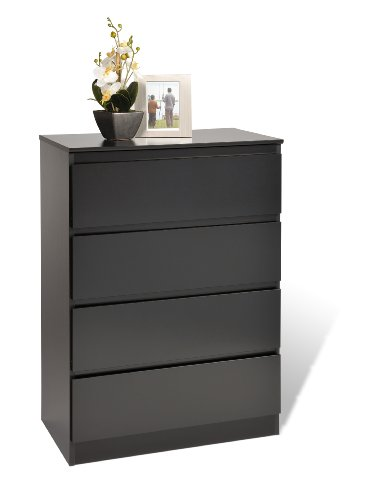 Prepac Black Avanti 4 Drawer Chest