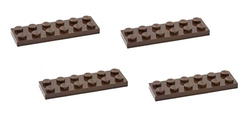 Lego Parts: Plate 2 x 6 (PACK of 4 - Dark Brown) - 1