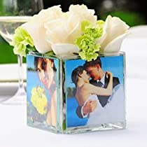 Best Seller Square Glass Photo Vase