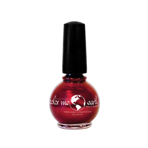 Color Me Earth Nail Polish--Pomegrante--Crimson Red Shimmer, Vegan, 0.65 fl.oz (Color Me Nail Polish compare prices)