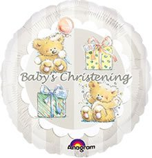 "18"" Anagram Baby'S Christening Balloon (1Ct) front-1075024"