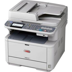 Oki Mb451W Led Multifunction Printer - Monochrome - Plain Paper Print - Desktop. Mb451W Mono Mfp Laser P/S/F/E Fb/Radf Wifi Usb Enet 2400X600. Printer, Scanner, Copier, Fax - 29 Ppm Mono Print - 1200 X 1200 Dpi Print - 29 Cpm Mono Copy Lcd - 600 Dpi Optic