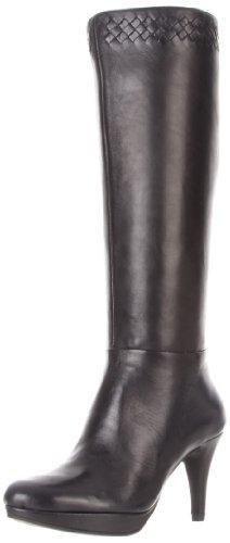 Bandolino Women'S Clipstone Wide Calf Platform Boot,Black Leather,6.5 M Us