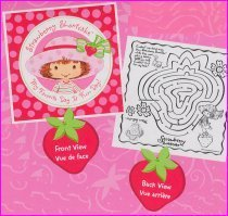 Strawberry Shortcake Party Activity Sheets 8ct