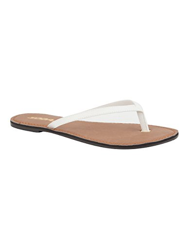 SODA Basic Womens Thong Sandals, White, 7 (Sandals By Soda compare prices)
