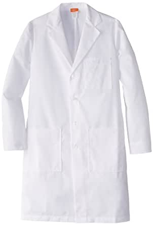 Labcoats by Barco Men's Tall 37 Inch 6 Pocket Lab Loose Back Belt, White, 36