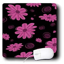 Anne Marie Baugh Flowers - Cute Pink Daisy Pattern - Mouse Pads