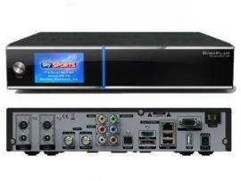 GigaBlue HD Quad PLUS schwarz 2x DVB-S2 HDTV Linux HbbTV LAN Sat...