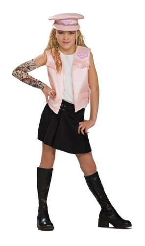 Harley Davidson Girls Vest Costume Accessories
