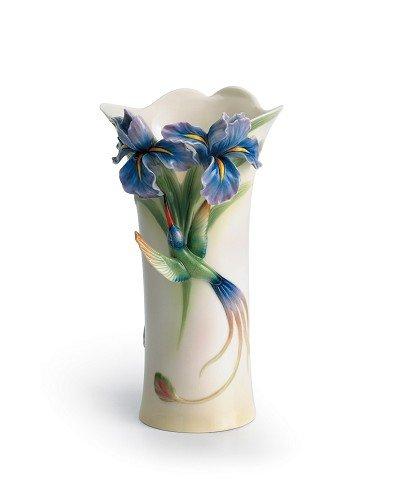 Franz Porcelain Long tail hummingbird vase