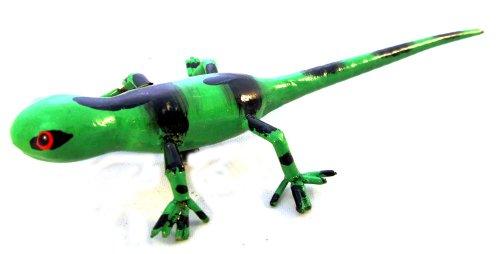 Kühlschrank Magnete Tier Figur, Gecko grün schwarz