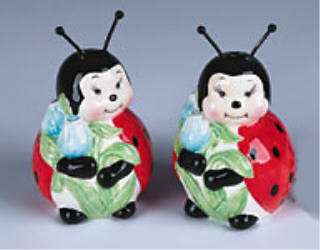 Ladybug Salt and Pepper Shakers Lady & Bug Ladybugs Bugs Shaker Kitchen Home Decor