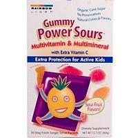 Rainbow Light Nutritional Systems - Gummy Power Sours Multi, 30 Chews