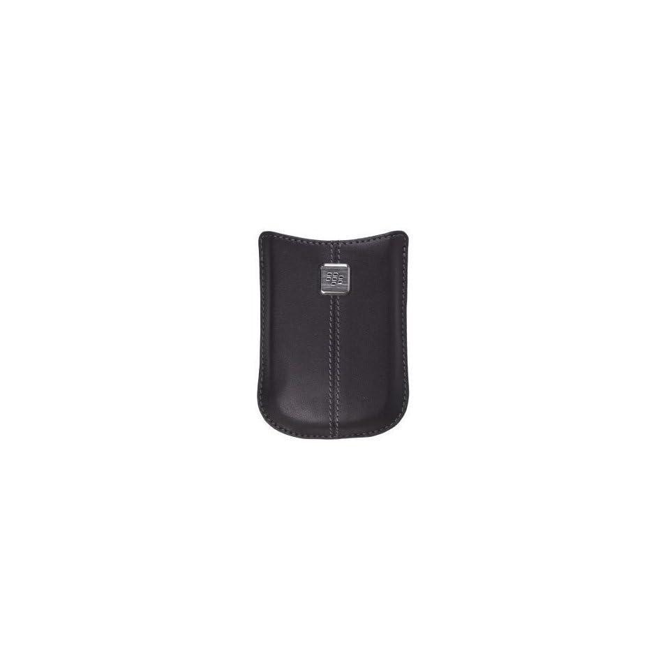 Blackberry OEM Leather Pocket Pouch Black Case without Belt Clip for Blackberry 8520 Curve