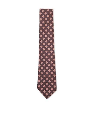 Kiton Men's Medallion Tie, Brown/Tan