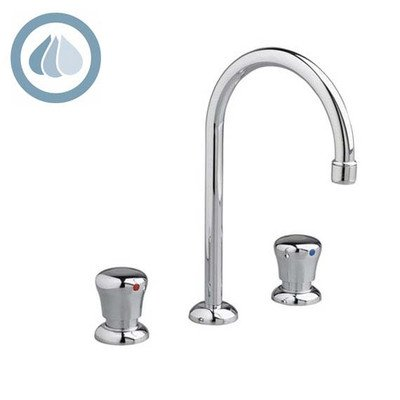 American Standard 1340.857 Pillar Tap Widespread Metering Faucet With High Arch, Chrome front-972976