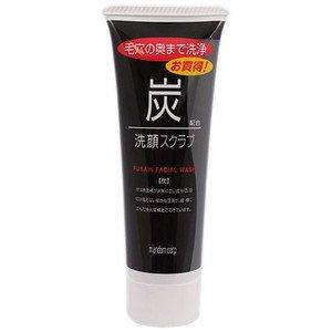 Mandom Charcoal Facial Scrub - 100G