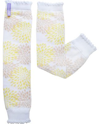 Chrysanthemum Baby Leg Warmers Yellow Flowers Huggalugs