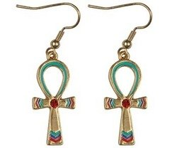 Ankh Earrings - Collectible Jewelry Accessory Dangle Studs Jewel