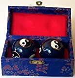 Chinese Iron Ball - Chinese Traditional Cloisonne Iron Ball for Health (One Set Containing 2 Balls We Pick up the Color and the Designs of the Balls for You)
