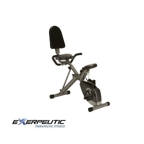 New Fitness Gear Exerpeutic 400xl Space Saver Recumbent Exercise Bike