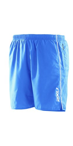 2XU 2XU Men's Active Run Short, Bright Blue, Large