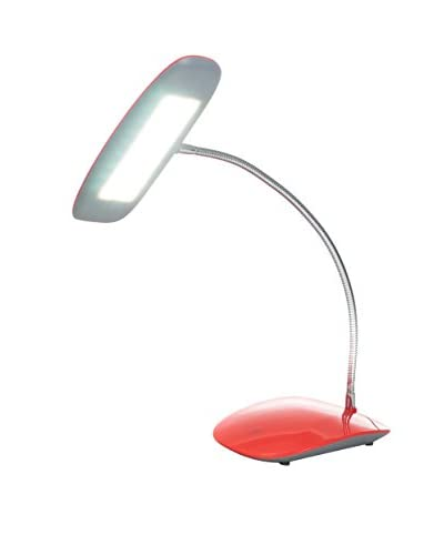 Northwest Touch Activated 18-Light LED USB Desk Lamp, Red