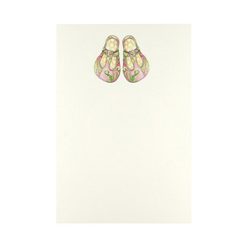 C.R. Gibson Cid Pear Imprintable Invitations and Lined Envelopes, Baby Doll Shoes, 10 Count - 1