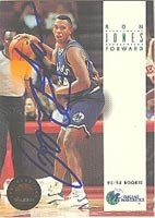 Ron Jones Dallas Mavericks 1993 Skybox Premium Autographed Hand Signed Trading Card -... by Hall+of+Fame+Memorabilia