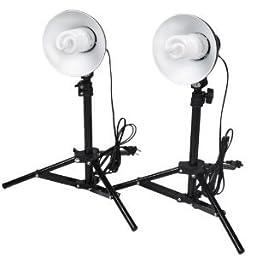 Ivationstudio Table Top Mini Continuous Studio Lighting Kit, 45w 5500k Daylight Bulb