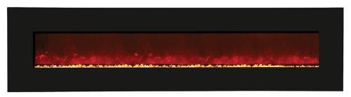 "Amantii Wall Mount/Builtin 82"" Electric Fireplace Wmbi768221Blkgls"