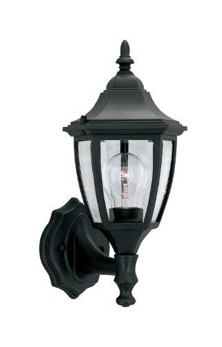 "Designers Fountain 2462-BK 1 Light 7"" Cast Aluminum Wall Lantern, Black at Sears.com"