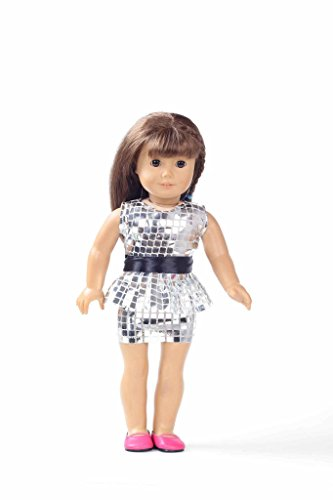 Teenitor(TM) Silver Sequins Shinning Short Dress With Clothes Fits 18 Inch Girl Dolls (Shipping By FBA) - 1