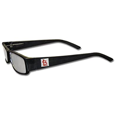 MLB Black Reading Glasses, +2.00, St. Louis Cardinals