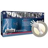 "Microflex PowerGrip Latex Glove, Powdered, 9.6"" Length, 5.9 mils Thick"