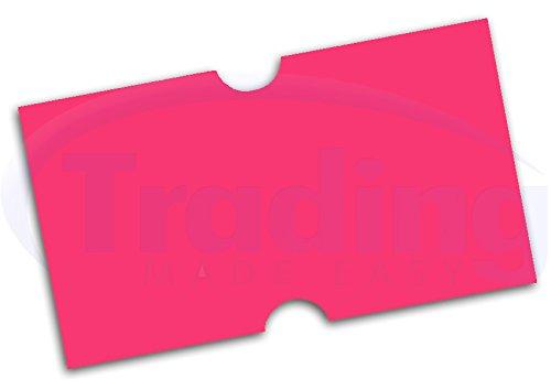 etiquettes pour etiqueteuse prix ROSE 22 x 12mm (pink)