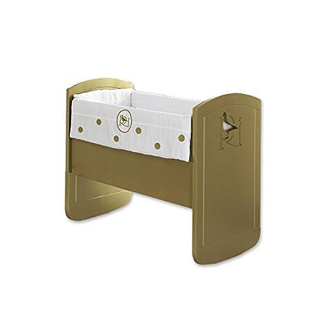 Rosabel Aries- Mini culla, 78x80x9 cm, colore oro
