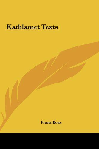 Kathlamet Texts Kathlamet Texts