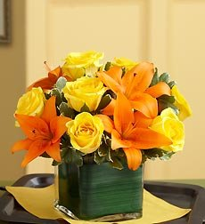 Flowers by 1800Flowers - Fall Rose and Lily Bouquet - Small